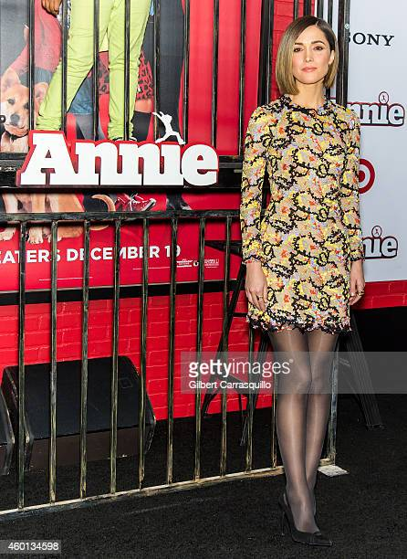 Actress Rose Byrne attends the 'Annie' world premiere at Ziegfeld Theater on December 7 2014 in New York City