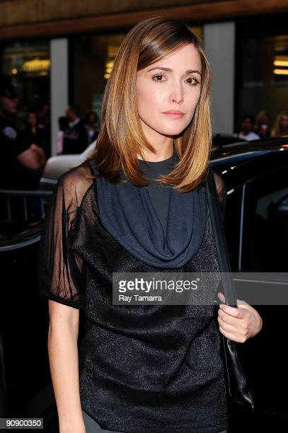 Actress Rose Byrne attends the Calvin Klein Spring 2010 fashion show at 205 West 39th Street on September 17 2009 in New York City