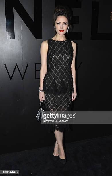 """Actress Rose Byrne attends the celebration of CHANEL FINE JEWELRY'S 80th anniversary of the """"Bijoux De Diamants"""" collection created by Gabrielle..."""