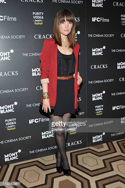 Actress Rose Byrne attends the Cinema Society and Montblanc screening of Cracks at the Tribeca Grand Hotel on March 16 2011 in New York City