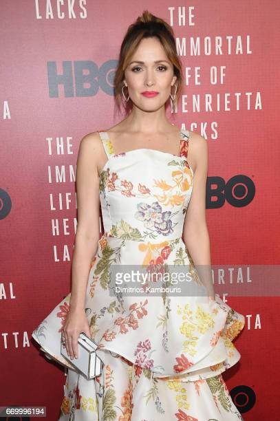 Actress Rose Byrne attends 'The Immortal Life of Henrietta Lacks' premiere at SVA Theater on April 18 2017 in New York City