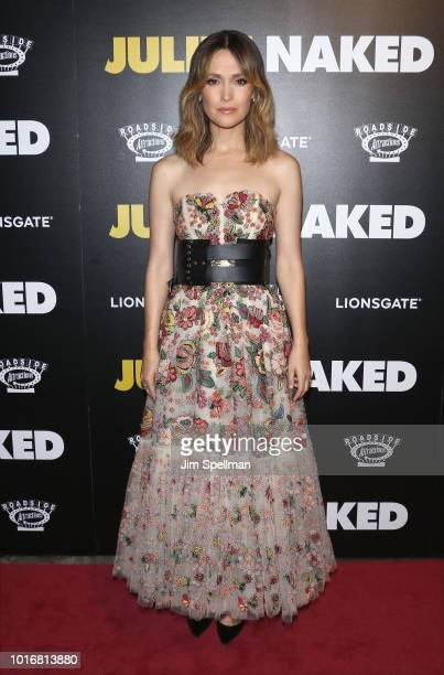 Actress Rose Byrne attends the Juliet Naked New York premiere at Metrograph on August 14 2018 in New York City