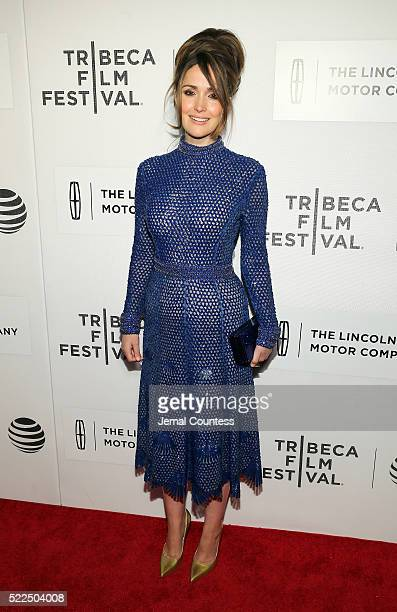 Actress Rose Byrne attends 'The Meddler' Premiere at John Zuccotti Theater at BMCC Tribeca Performing Arts Center on April 19 2016 in New York City