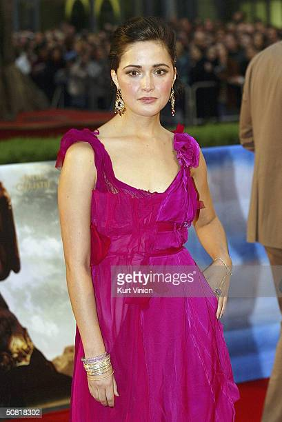 Actress Rose Byrne attends the official European premiere of longawaited epic film Troy at the Cinestar Cinema Potsdamer Square on May 9 2004 in...