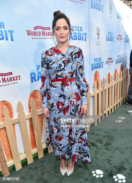 Actress Rose Byrne attends the premiere of Columbia Pictures' 'Peter Rabbit' at The Grove on February 3 2018 in Los Angeles California