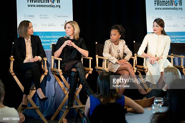 Actress Rose Byrne Editor In Chief of More Magazine Lesley Jane Seymourand actress Quvenzhane Wallis and Miss Universe 2013 Gabriela Isler speak on...