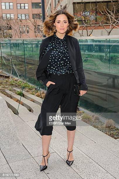 Actress Rose Byrne is seen at High Line Park on April 7 2016 in New York City