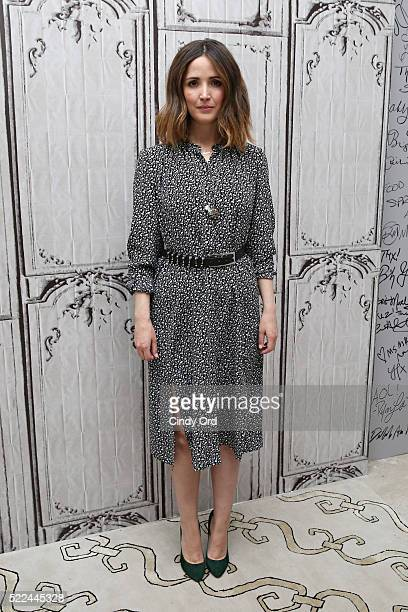 Actress Rose Byrne poses for a photo before discussing her comedy-drama film 'The Meddler' during AOL Build Speaker Series at AOL Studios In New York...