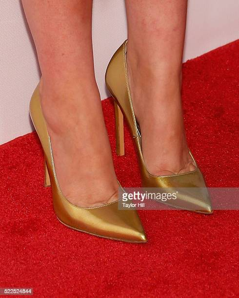 Actress Rose Byrne shoe detail attends the premiere of 'The Meddler' at Borough of Manhattan Community College during the 2016 TriBeCa Film Festival...