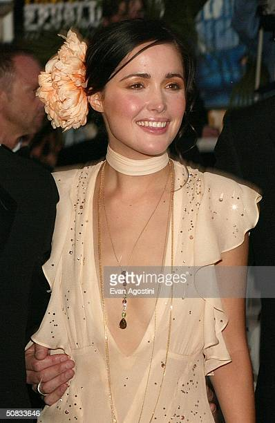 Actress Rose Byrne who is wearing Chopard jewelry attends the World Premiere of the epic movie Troy at Le Palais de Festival May 13 2004 in Cannes...