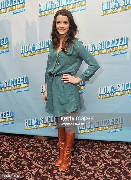 Actress Rose Hemingway attends the after party following the cast change in How To Succeed In Business Without Really Trying at Sardi's on January 3...