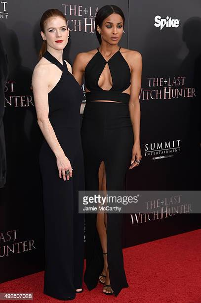 Actress Rose Leslie and singer Ciara attend the New York premiere of The Last Witch Hunter at AMC Loews Lincoln Square on October 13 2015 in New York...