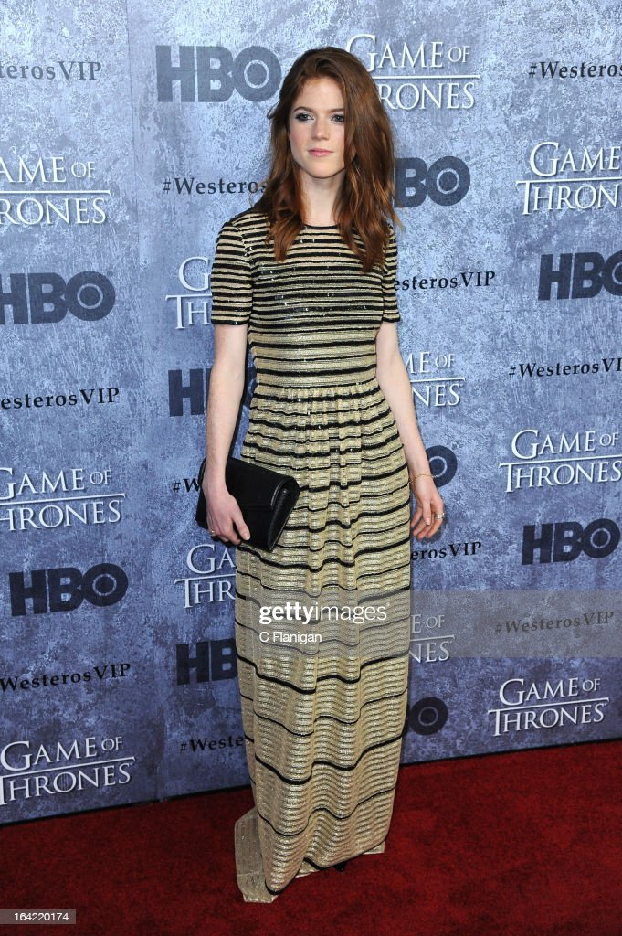 Actress Rose Leslie arrives at the San Francisco Premiere For HBO's 'Game Of Thrones' Season 3 at Palace Of Fine Arts Theater on March 20, 2013 in San Francisco, California.