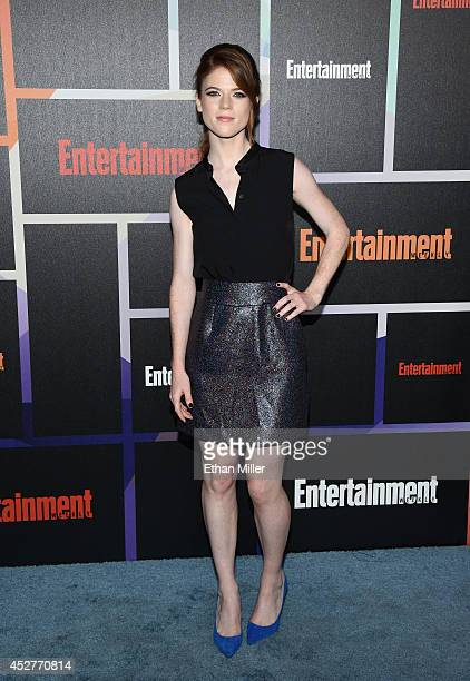 Actress Rose Leslie attends Entertainment Weekly's annual ComicCon celebration at Float at Hard Rock Hotel San Diego on July 26 2014 in San Diego...