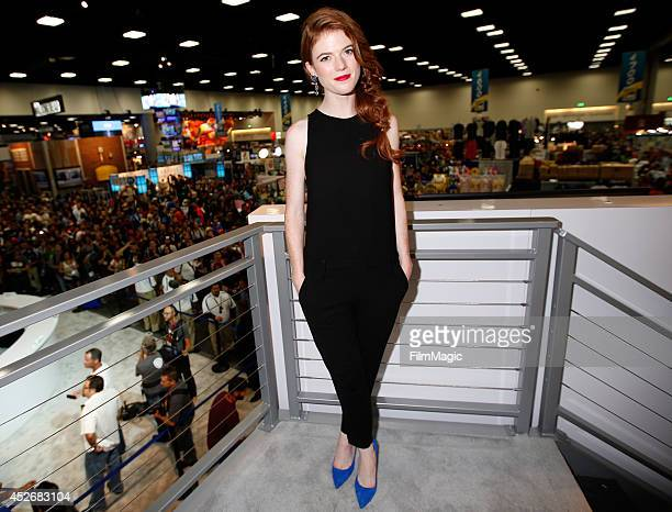 Actress Rose Leslie attends HBO's 'Game of Thrones' cast autograph signing during ComicCon 2014 on July 25 2014 in San Diego California