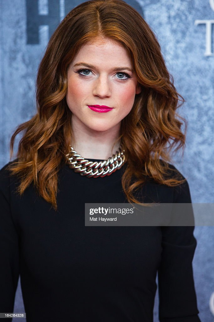 """Actress Rose Leslie attends HBO's """"Game Of Thrones"""" season ..."""