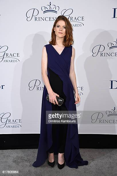 Actress Rose Leslie attends the 2016 Princess Grace Awards Gala with presenting sponsor Christian Dior Couture at Cipriani 25 Broadway on October 24...