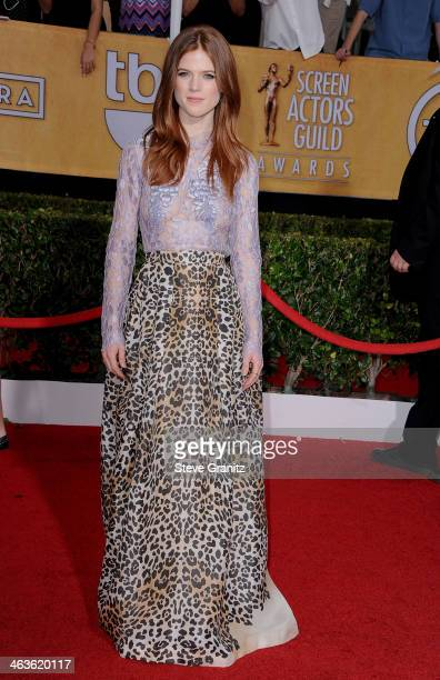 Actress Rose Leslie attends the 20th Annual Screen Actors Guild Awards at The Shrine Auditorium on January 18 2014 in Los Angeles California