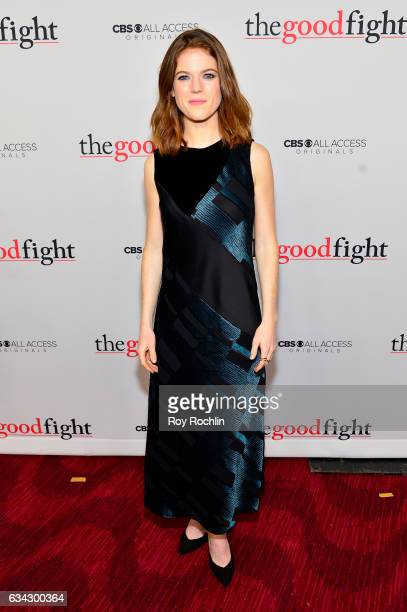 Actress Rose Leslie attends 'The Good Fight' World Premiere at Jazz at Lincoln Center on February 8 2017 in New York City