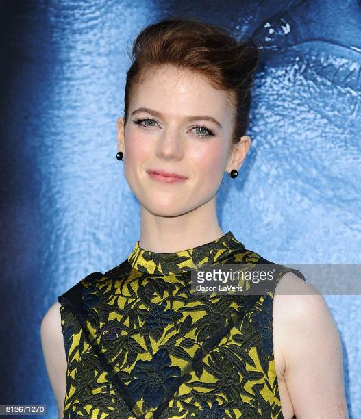 Actress Rose Leslie attends the season 7 premiere of Game Of Thrones at Walt Disney Concert Hall on July 12 2017 in Los Angeles California