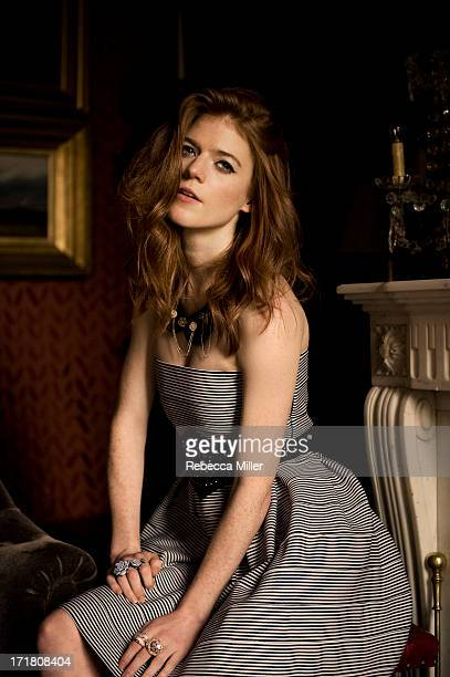 Actress Rose Leslie is photographed for Bust Magazine on January 22 2013 in London England