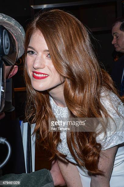 Actress Rose Leslie leaves a Midtown Manhattan hotel on March 18 2014 in New York City
