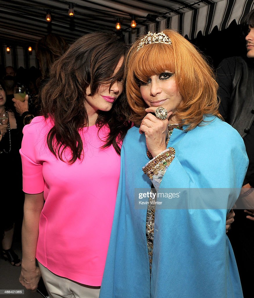 Actress Rose McGowan (L) and Linda Ramone pose at the after party for the premiere of Tribeca Film's 'Palo Alto' at the Chateau Marmont on May 5, 2014 in West Hollywood, California.