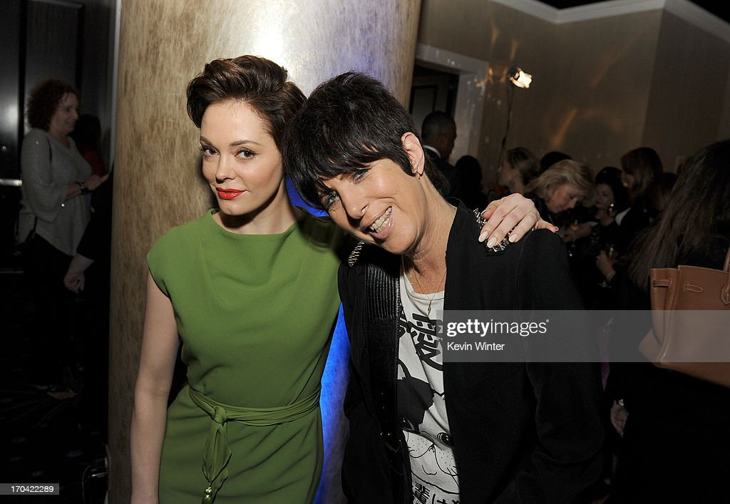 Actress Rose McGowan and songwriter Diane Warren attend Women In Film's 2013 Crystal + Lucy Awards at The Beverly Hilton Hotel on June 12, 2013 in Beverly Hills, California.