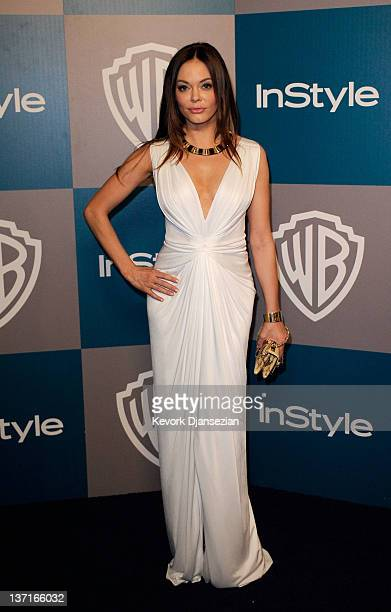 Actress Rose McGowan arrives at 13th Annual Warner Bros And InStyle Golden Globe Awards After Party at The Beverly Hilton hotel on January 15 2012 in...