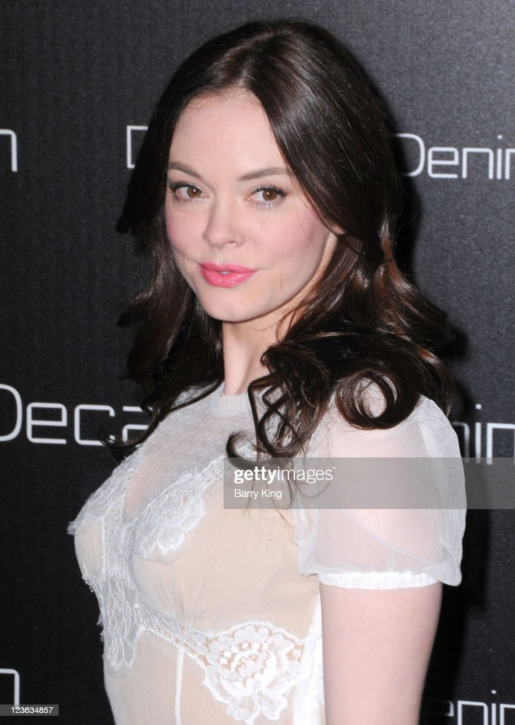 Actress Rose McGowan arrives at Decades Denim Launch Party at a private residence on November 2, 2010 in Beverly Hills, California.