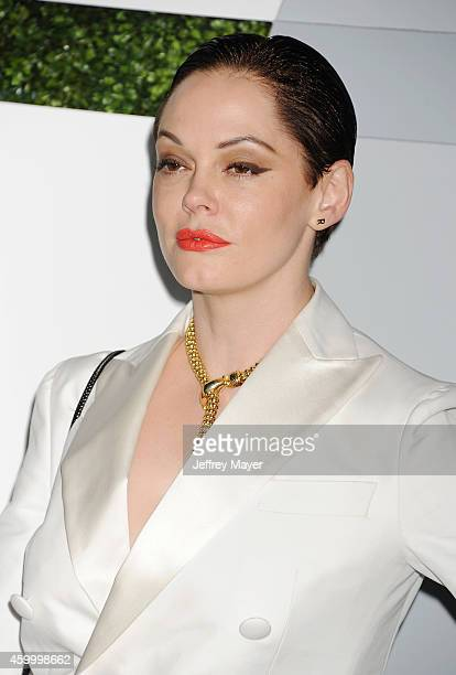 Actress Rose McGowan arrives at the 2014 GQ Men Of The Year Party at Chateau Marmont on December 4 2014 in Los Angeles California