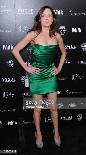 Actress Rose McGowan arrives at The Art of Elysium's 2nd Annual Genesis Awards at Milk Studios on August 28, 2010 in Hollywood, California.