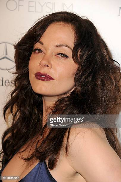 Actress Rose McGowan arrives at The Art of Elysium's 7th Annual HEAVEN Gala presented by MercedesBenz at Skirball Cultural Center on January 11 2014...