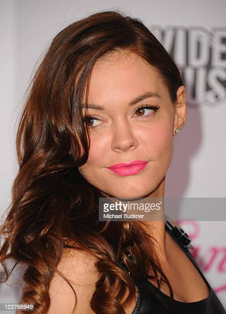 Actress Rose McGowan arrives at the Candie's 2011 MTV Video Music Awards After Party at The Colony on August 28 2011 in Los Angeles California