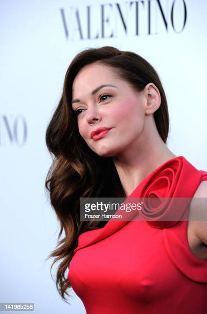 Actress Rose McGowan arrives at Valentino Rodeo Drive Flagship store opening on March 27, 2012 in Beverly Hills, California.
