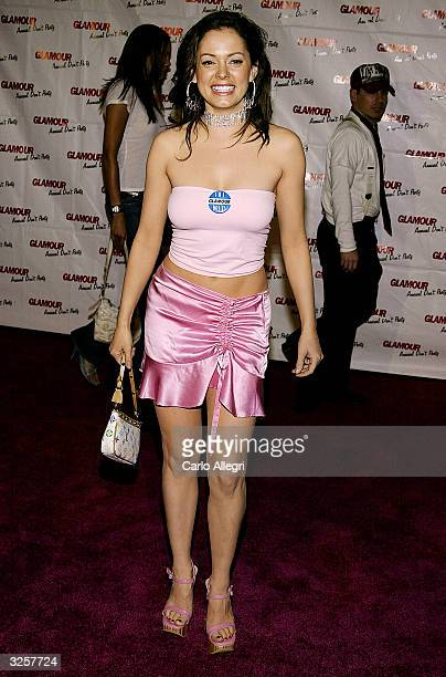 Actress Rose McGowan arrives for Glamour Magazine's Don't party at Del Taco April 7 2004 in Los Angeles California