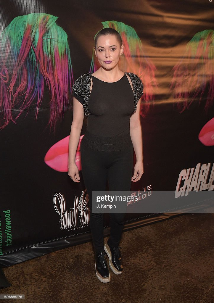 Actress Rose McGowan attends 'Charliewood An Exhibition Of Transgressive Movement' at Cedar Lake on November 28, 2016 in New York City.