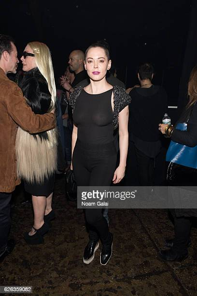 Actress Rose McGowan attends 'Charliewood An Exhibition Of Transgressive Movement' at Cedar Lake on November 28 2016 in New York City