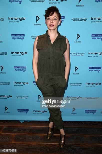 Actress Rose McGowan attends Kari Feinstein's Style Lounge presented by Paragon at Andaz West Hollywood on August 22 2014 in Los Angeles California