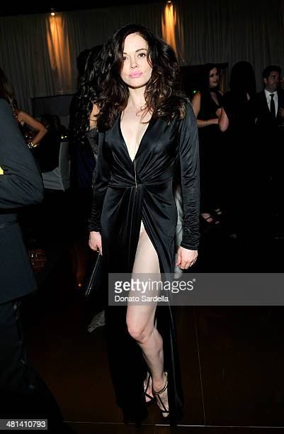 Actress Rose McGowan attends MOCA's 35th Anniversary Gala presented by Louis Vuitton at The Geffen Contemporary at MOCA on March 29 2014 in Los...