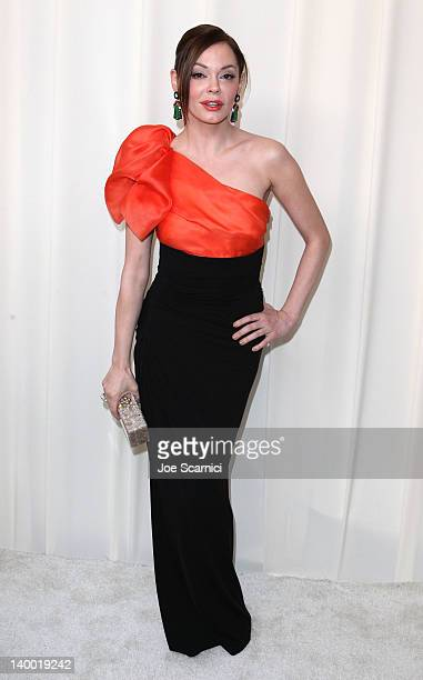 Actress Rose McGowan attends Neuro Drinks at 20th Annual Elton John AIDS Foundation Academy Awards Viewing Party at The City of West Hollywood Park...