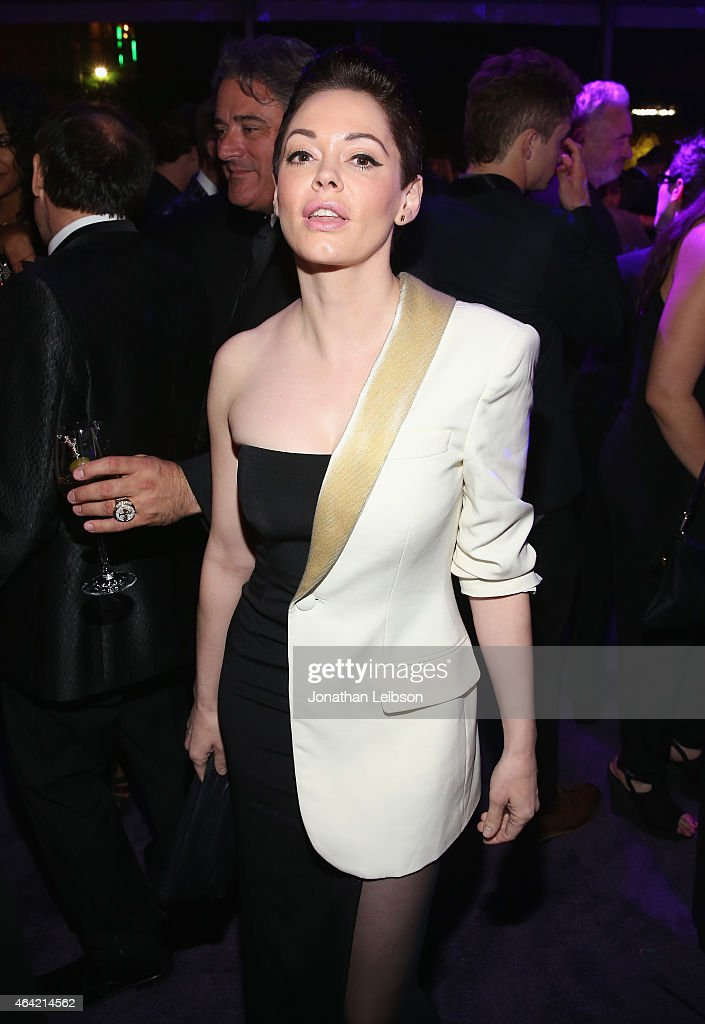 Actress Rose McGowan attends ROCA PATRON TEQUILA at the 23rd Annual Elton John AIDS Foundation Academy Awards Viewing Party on February 22, 2015 in Los Angeles, California.