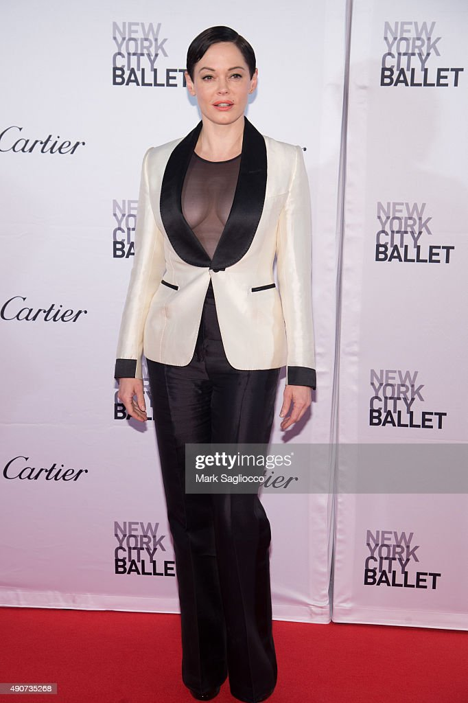Actress Rose McGowan attends the 2015 New York City Ballet Fall Gala at the David H. Koch Theater at Lincoln Center on September 30, 2015 in New York City.