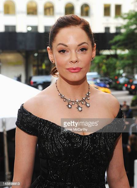 Actress Rose McGowan attends the 3rd annual amfAR Inspiration Gala New York at The New York Public Library Stephen A Schwarzman Building on June 7...