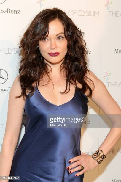 Actress Rose McGowan attends The Art of Elysium's 7th Annual HEAVEN Gala presented by MercedesBenz at Skirball Cultural Center on January 11 2014 in...