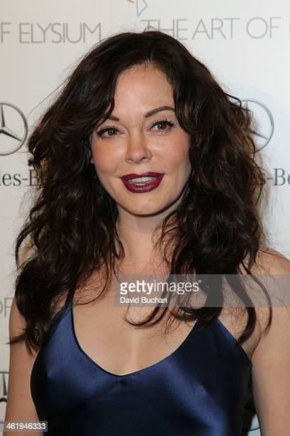 Actress Rose McGowan attends The Art Of Elysium's 7th Annual HEAVEN Gala Presented By MercedesBenz on January 11 2014 in Los Angeles California