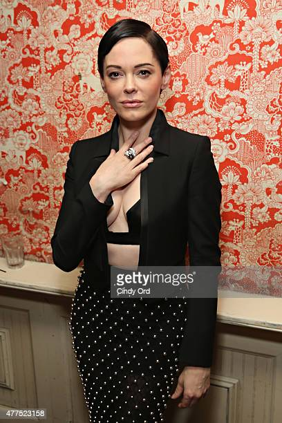 Actress Rose McGowan attends the Casa Reale Fine Jewelry Launch at The Box on June 17 2015 in New York City