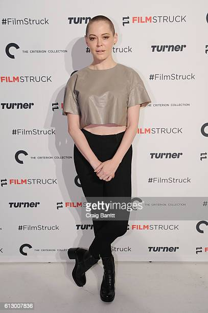 Actress Rose McGowan attends the 'Filmstruck' launch event at 404 NYC on October 6 2016 in New York City