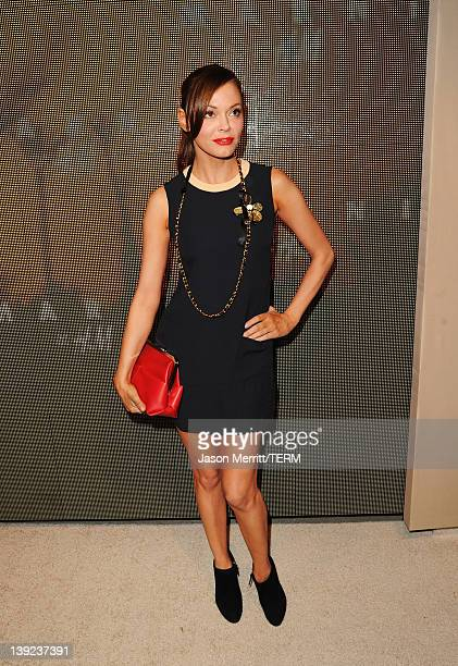 Actress Rose McGowan attends the Marni at H&M Collection Launch at Lloyd Wright's Sowden House on February 17, 2012 in Los Angeles, California.