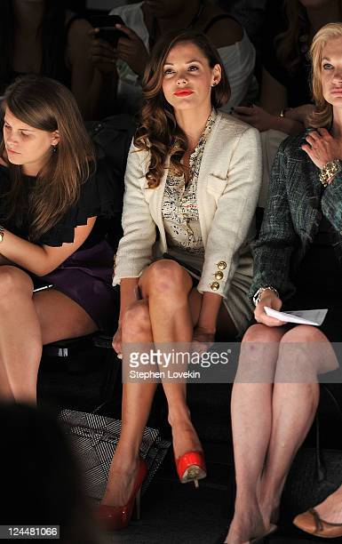 Actress Rose McGowan attends the Ruffian Spring 2012 fashion show during MercedesBenz Fashion Week at The Studio at Lincoln Center on September 10...